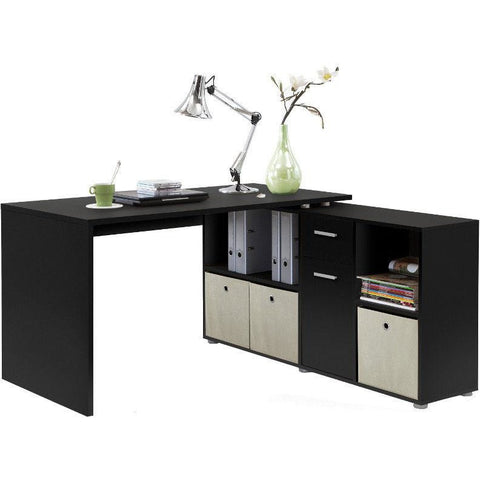 ASSEMBLY INCLUDED 'Lexar' Combi-Fit Corner or Flat Wall Computer/PC Desks With Storage, [product_variation] - Freedom Homestore