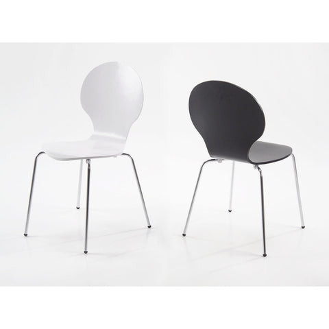 Actona 'Marcus' Satin Finish Dining / Kitchen Chairs. Black or White