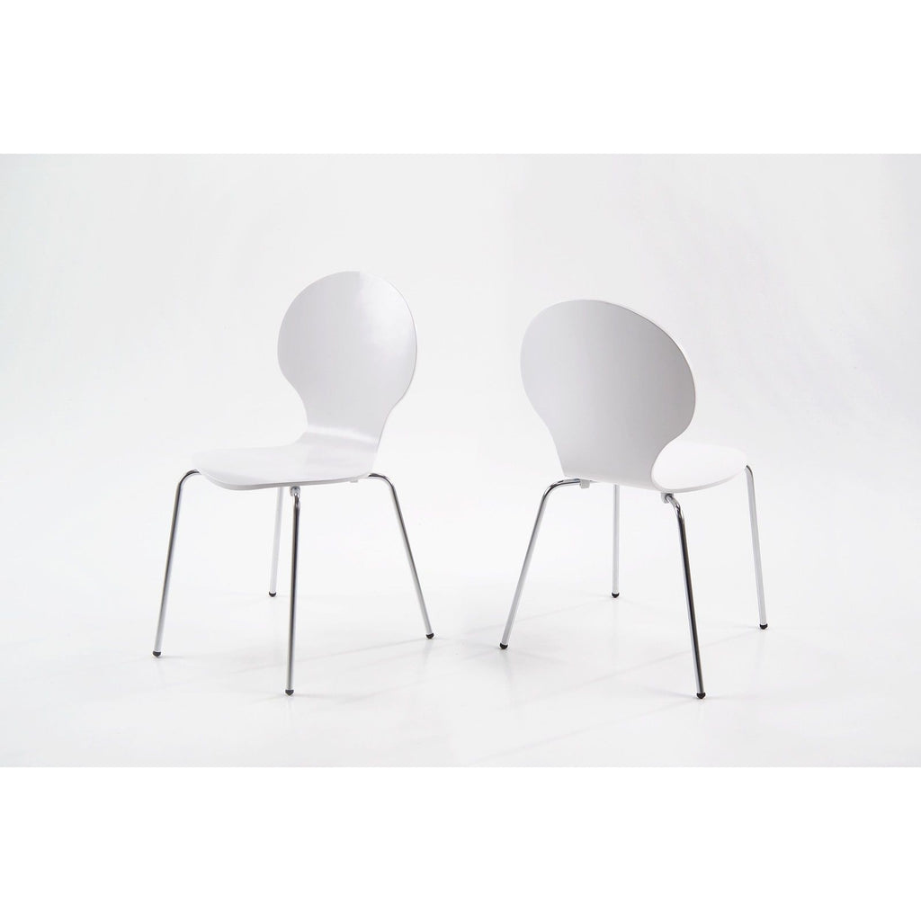Actona 'Marcus' Satin Finish Dining / Kitchen Chairs. Black or White, [product_variation] - Freedom Homestore