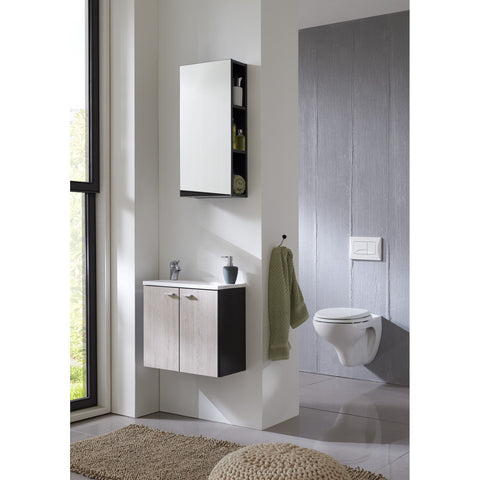 'Nepal' Matching Bathroom Units / Suite. Anthracite & Sand Oak, [product_variation] - Freedom Homestore