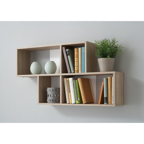"""Nora"" Staggered Display Shelving. Decorative Designer Wall Shelf."
