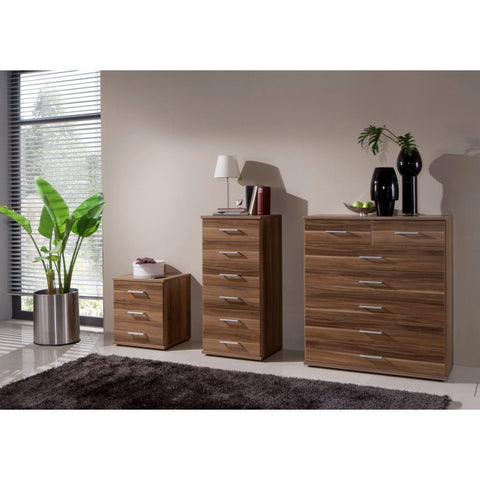 "Qmax ""Ambassador"" Drawer Chest Range. Walnut Finish."