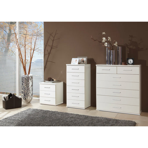 "Qmax ""Ambassador"" Drawer Chest Range. White Finish."