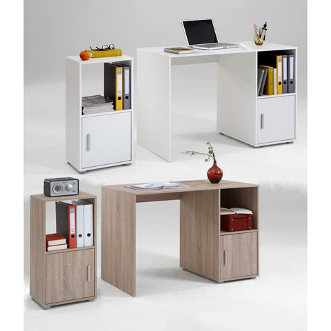 """Olga"" Range Basic PC Computer Desk / File Cabinet, With Drawer & Cupboard."