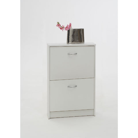 """Penny2"" 8-Pair Shoe Cabinet / Shoe Storage Solution. White,"