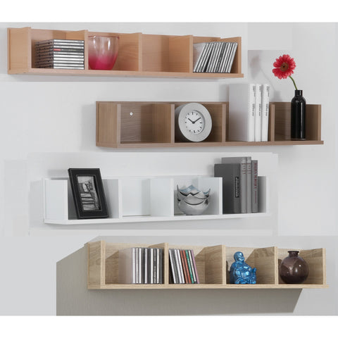 'Point' Designer Wall Shelf / Bookcase. Display Shelving Unit.