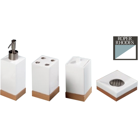Roper Rhodes Ceramic Bathroom Accessories, Toothbrush, Cotton, Lotion Holders, [product_variation] - Freedom Homestore