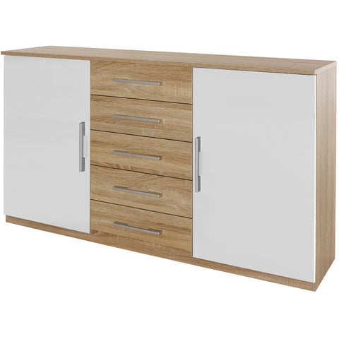 Rauch 'Lyon' Range German Made Bedroom Furniture. Oak & HighGloss White, [product_variation] - Freedom Homestore