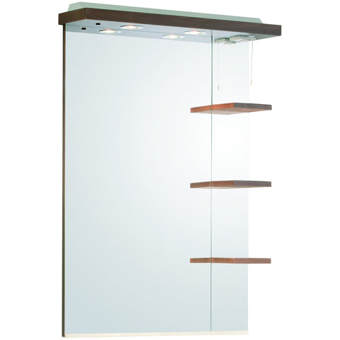 "Roper Rhodes ""Signatures"" Illuminated Canopy Mirror With Shelves, Walnut SGM7AW, [product_variation] - Freedom Homestore"