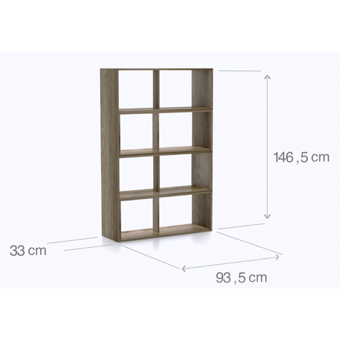 "'Mega' Range - ""Stretch-1"" Expanding Display Shelving / Bookcase. Room Divider., [product_variation] - Freedom Homestore"