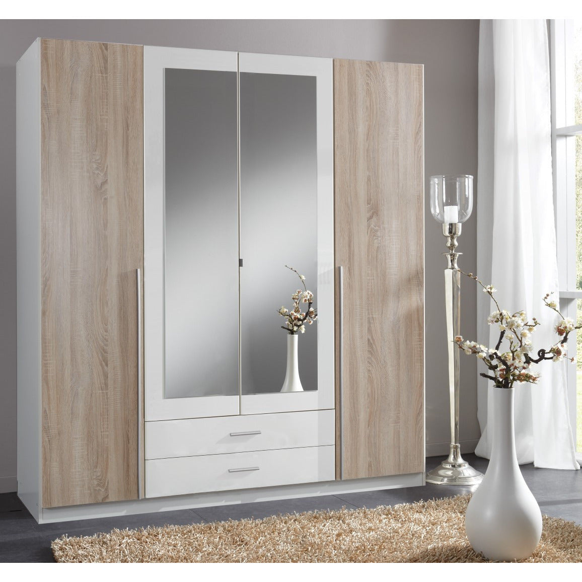 German Made Bedroom Furniture. Washed Oak U0026 White.