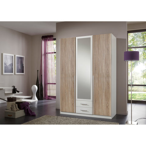Qmax 'Skate' Wardrobe Range. German Made Bedroom Furniture. Washed Oak & White., [product_variation] - Freedom Homestore