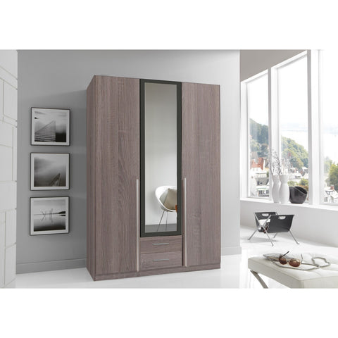 Qmax 'Skate' Wardrobe Range. German Made Bedroom Furniture. Dark Oak & Lava, [product_variation] - Freedom Homestore