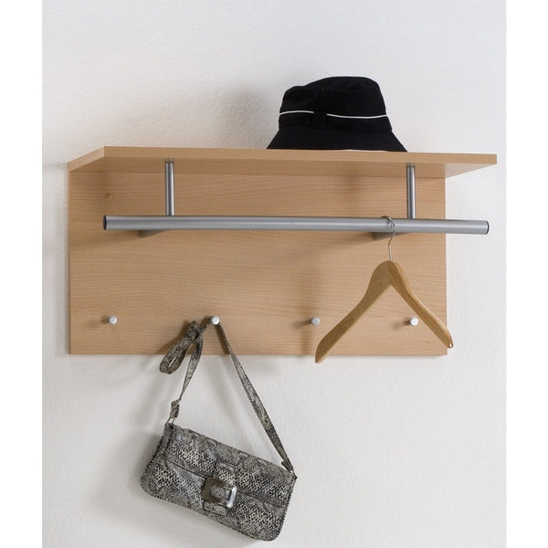 Wall Mounted Coat Stand Hat Rack Shelf Rail Amp Hooks Quot Spot