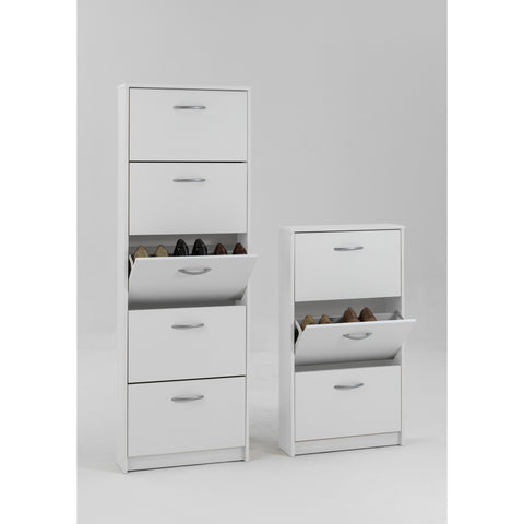"""Step"" Shoe Storage Cabinet/Cupboard Range. Shoe Rack Furniture Solution. White, [product_variation] - Freedom Homestore"