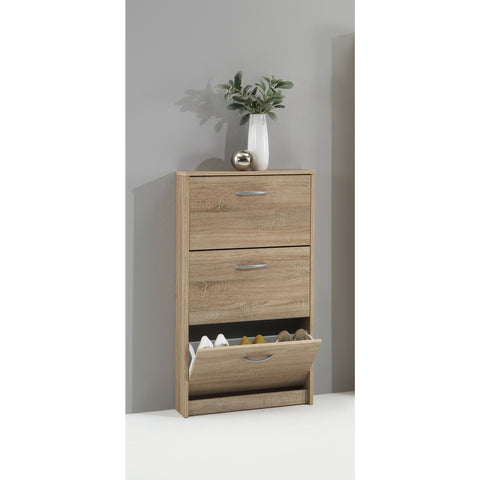 """Step"" Shoe Storage Cabinet/Cupboard Range. Shoe Rack Furniture Solution. Washed Oak, [product_variation] - Freedom Homestore"