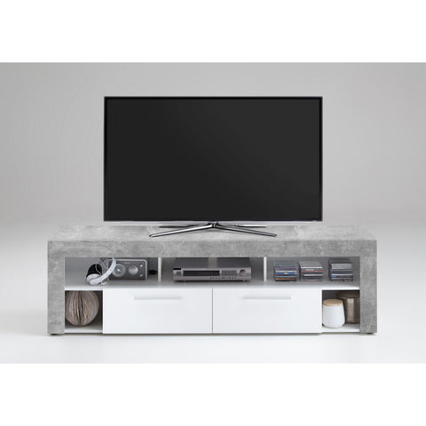 """Vibio"" TV Stand Entertainment Unit in 'Stone' Finish. Medium or Large Size., [product_variation] - Freedom Homestore"