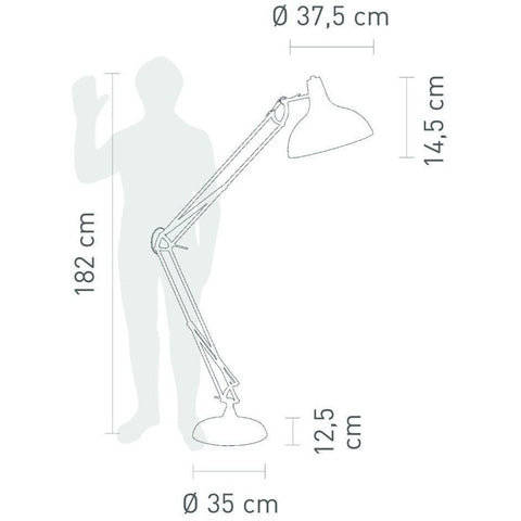 Sompex 'XXL' Flexible Floor Standing Lamp Light Black - Over 6 Feet Tall!, [product_variation] - Freedom Homestore