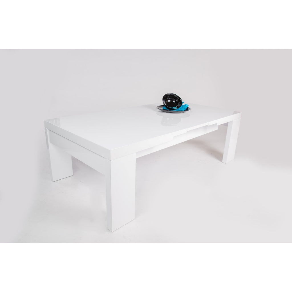 "MCA ""Gina"" High-Gloss White Designer Extending Coffee Table, [product_variation] - Freedom Homestore"