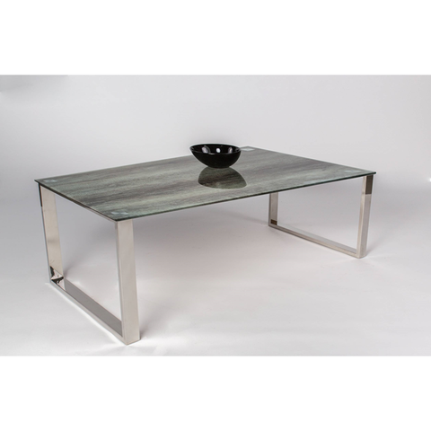 "MCA ""Finja"" Tempered Glass Designer Coffee Table in Oak Effect Print, [product_variation] - Freedom Homestore"