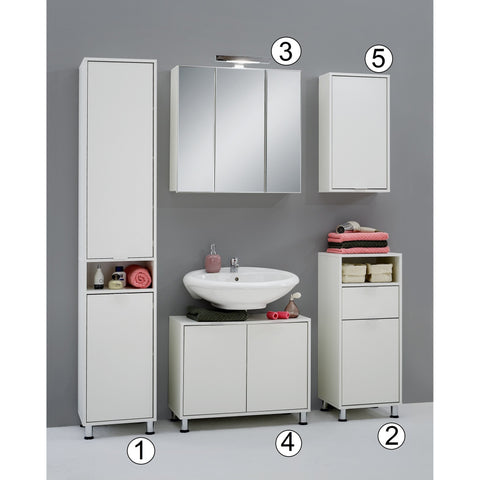 'Zamora' Matching Bathroom Units / Suite. Minimalist Design, White Finish., [product_variation] - Freedom Homestore