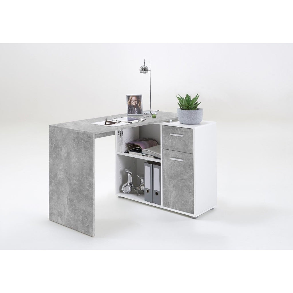"""Albrecht"" Reversible L-Shape Corner Desk (or Flat Fit) PC Table. Mega Range, [product_variation] - Freedom Homestore"