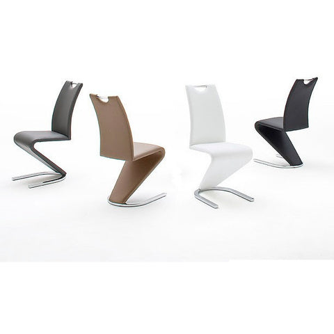 "DESIGNER ""Amado"" Z-Shape Dining Chairs, Pack of 2. Choice of Colour."