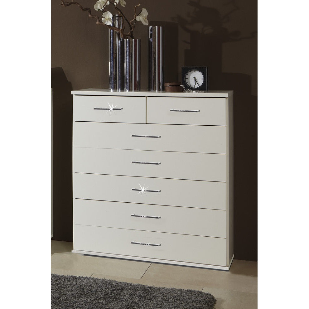 Qmax Bling Drawer Chest Range German Made Bedroom Furniture