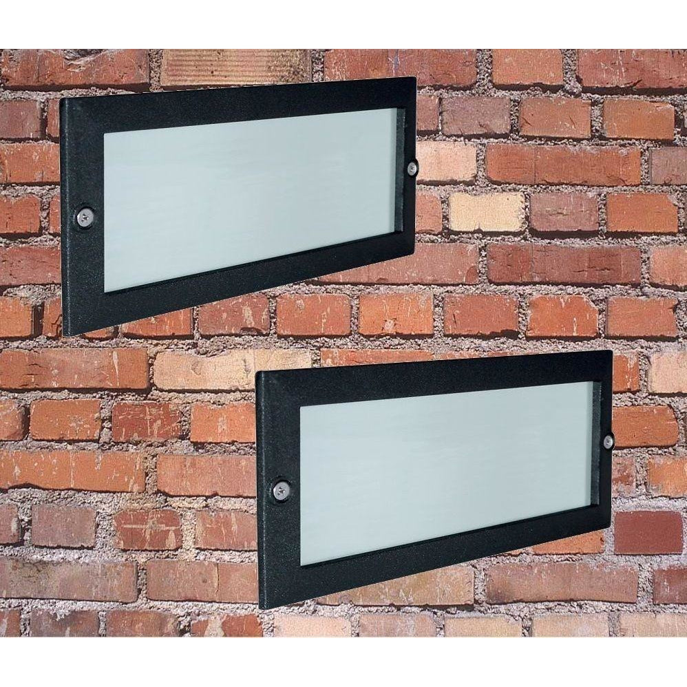 PAIR (2x) Searchlight Outdoor Brick Lights. Garden Porch Patio Wall Light., [product_variation] - Freedom Homestore