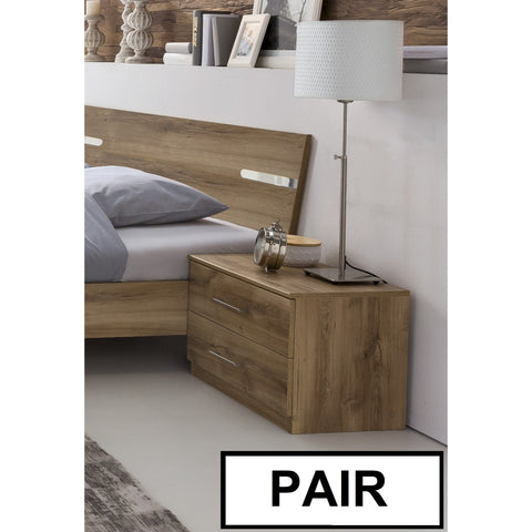 ASSEMBLY INCLUDED Qmax 'City' Range German Bedroom Furniture. Plank Oak., [product_variation] - Freedom Homestore
