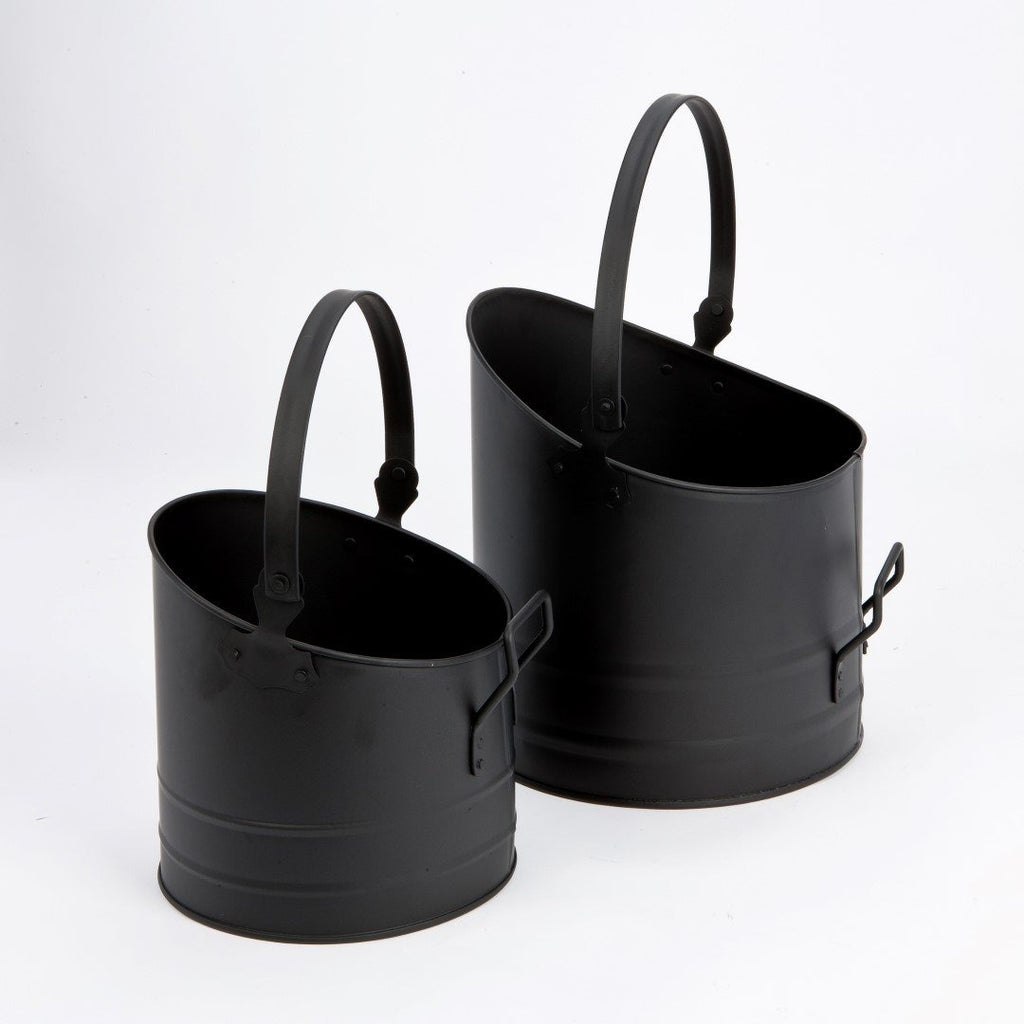 PAIR of Matching Inglenook Coal Buckets. Decorative &  Functional Fireplace Companions, [product_variation] - Freedom Homestore