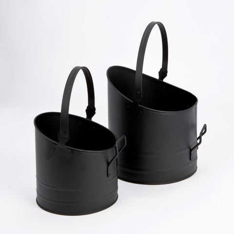 PAIR of Matching Inglenook Coal Buckets. Decorative &  Functional Fireplace Companions