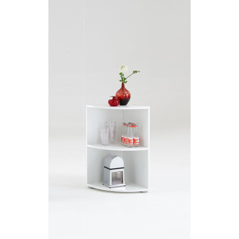 """Big Eck & Wee Eck"" Bathroom / Kitchen Corner Shelf. White, Floor Standing., [product_variation] - Freedom Homestore"