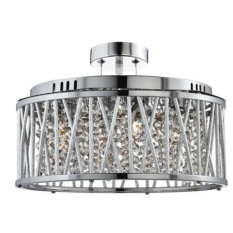 "Searchlight ""Elise"" Range Designer Ceiling Pendant Light Crystal Drop Chandelier, [product_variation] - Freedom Homestore"