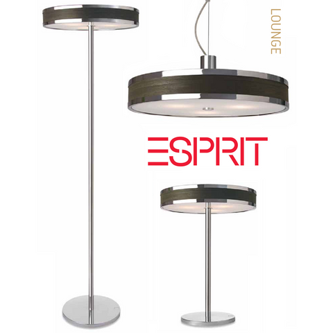 Esprit 'Lounge' Designer Light Range. Wenge Wood Veneer Lighting., [product_variation] - Freedom Homestore