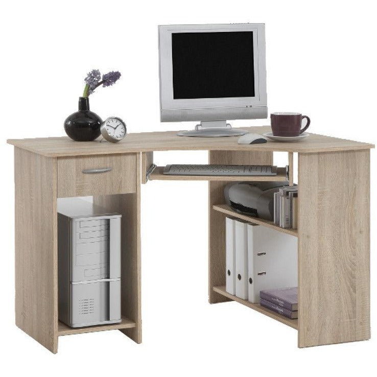 'Flick' Range of Corner Computer/PC Desks/Tables With Drawer & Storage, [product_variation] - Freedom Homestore