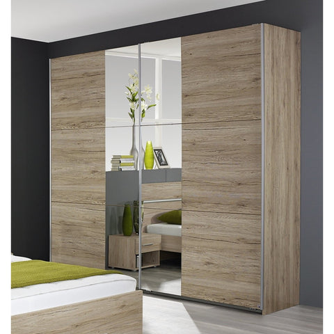 Rauch 'Fellbach' Range German Made Bedroom Furniture. San Remo Oak Finish, [product_variation] - Freedom Homestore