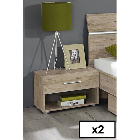 ASSEMBLY INCLUDED Rauch 'Fellbach' German Made Bedroom Furniture. San Remo Oak, [product_variation] - Freedom Homestore