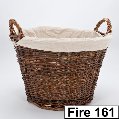 Inglenook Fireside Wicker Log Basket Range With Handles. Fireplace Companion., [product_variation] - Freedom Homestore