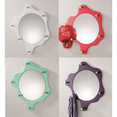 """Splat"" Funky Colourful Mirrored Coat Stand / Hat Rack Hooks. Ideal For Hallway."