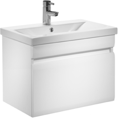 *Clearance* Tavistock 'Groove' Matching Bathroom Floor Cabinet & Wall Vanity With Sink., [product_variation] - Freedom Homestore