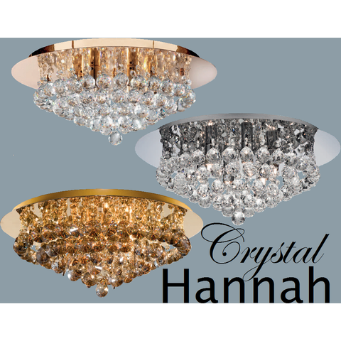 "Marco Tielle Crystal ""Hannah"" Six Light Ceiling Chandelier"