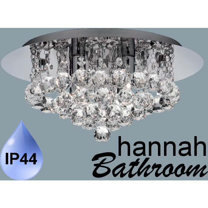 "Marco Tielle ""Hannah Bathroom"" 4 Light Ceiling Chandelier. IP44 Waterproof Rated, [product_variation] - Freedom Homestore"