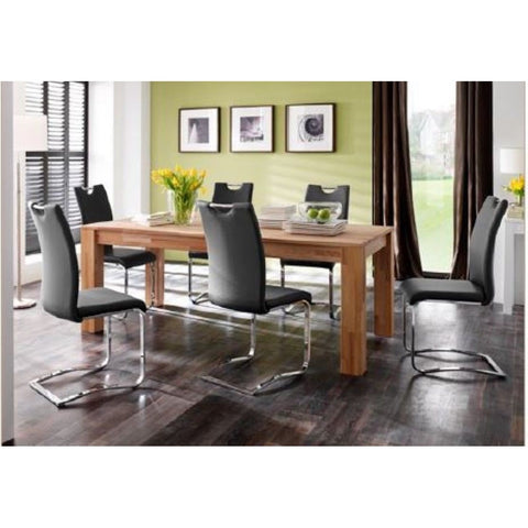 "*Set of 4* ""Koeln"" PU Leather & Chrome Swinging Dining Chairs."