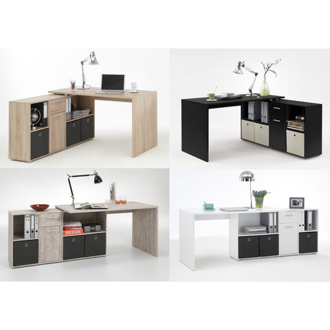 ASSEMBLY INCLUDED 'Lexar' Combi-Fit Corner or Flat Wall Computer/PC Desks With Storage