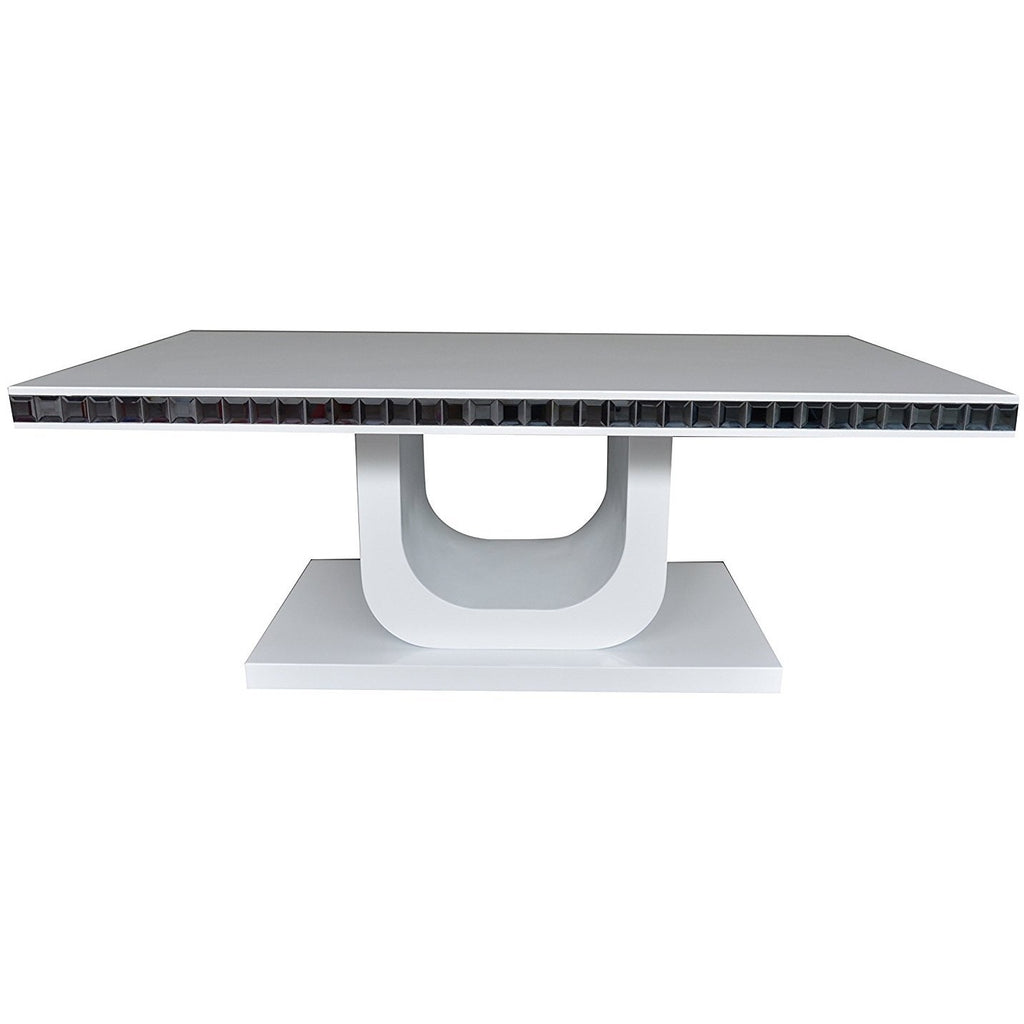 "MCA ""Livian"" High-Gloss White Designer Coffee Table With Glass Coffin Trim, [product_variation] - Freedom Homestore"