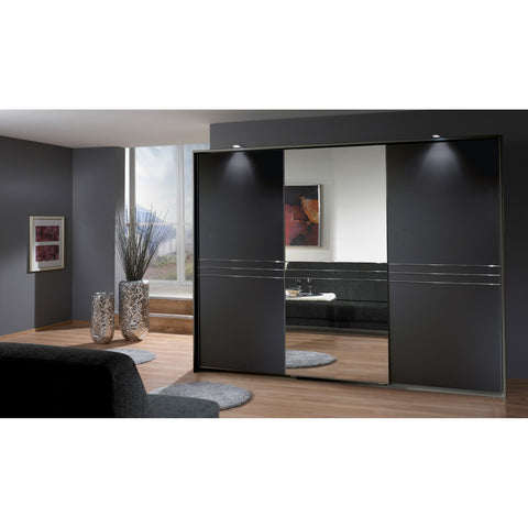 Qmax 'Medway' Range, German Bedroom Furniture. Lava Brown (Near Black)., [product_variation] - Freedom Homestore