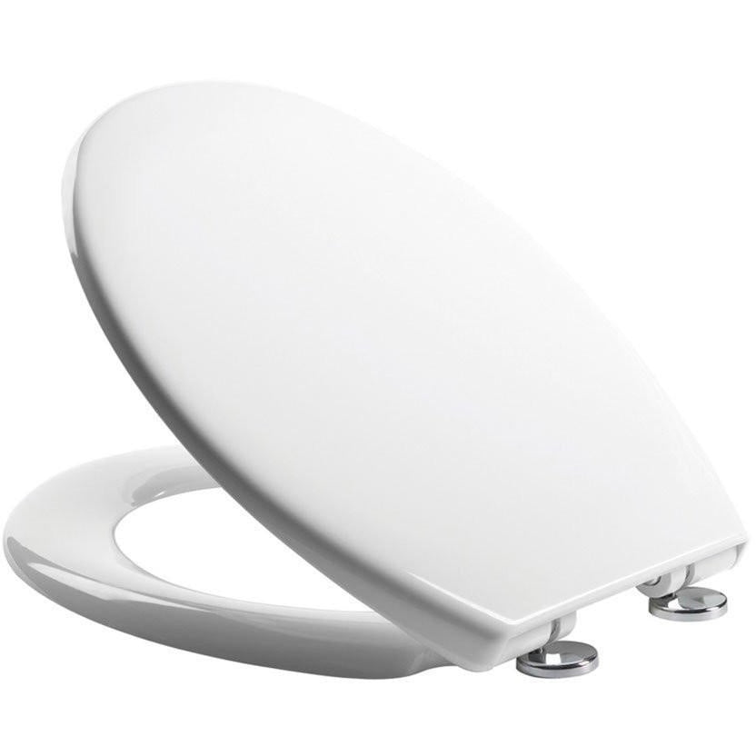 "Roper Rhodes ""Neutron"" White Soft Close Thermoset Plastic Toilet Seat., [product_variation] - Freedom Homestore"
