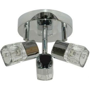 "Searchlight ""Cool Ice"" Cube Black or Chrome Ceiling Spot Lights, [product_variation] - Freedom Homestore"