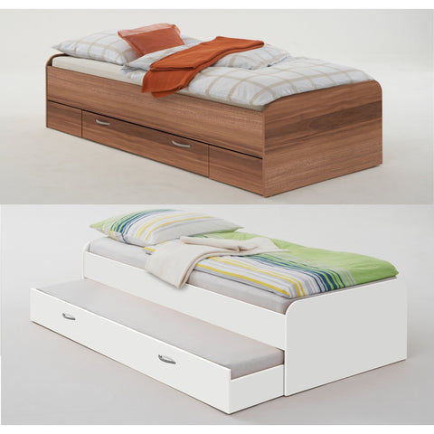 *Clearance* Pedro Guest Beds Single w/Drawer Or Twin Hidden Bed 3ft